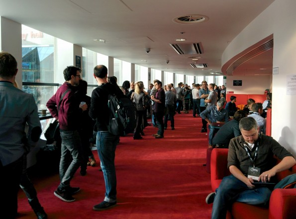 Networking before the mornings talks began