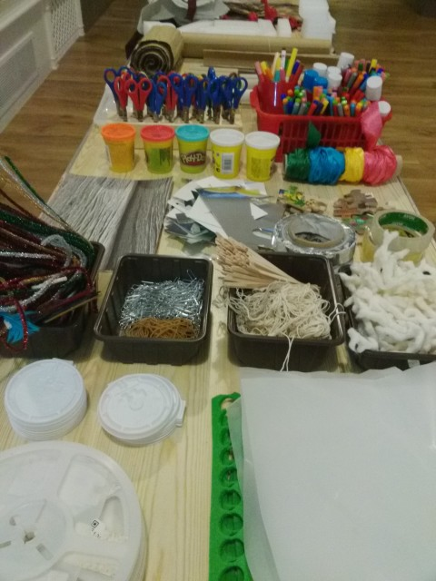 Materials ready for creative hands to explore