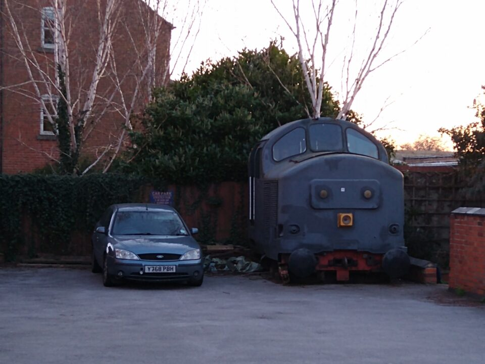 A train park discovered on an early morning walk in Derby